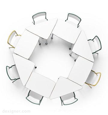 طراحی صندلی و میزتحریر خلاقانه توسط Alegre Designs