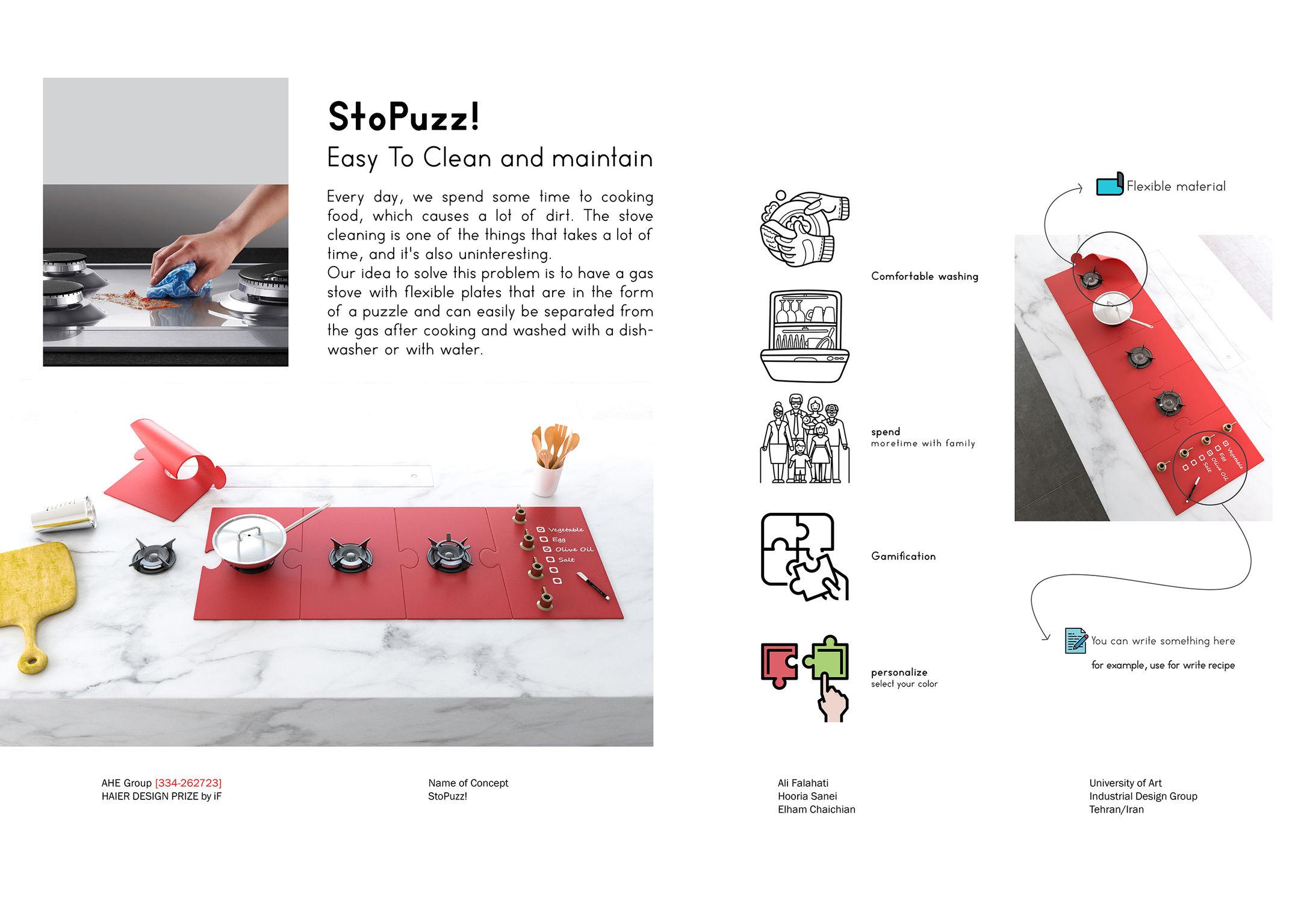 سه دانشجوی ایرانی با طراحی اجاق گاز StoPuzz برندهی جایزه iF DESIGN TALENT AWARD 2019 شدند.
