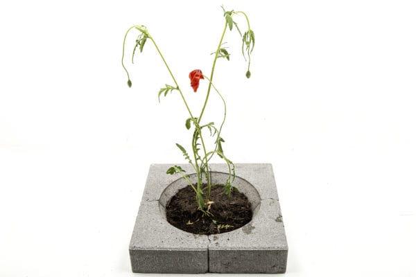 نمونه طراحی گلدان با بلوکهای سنگفرش!