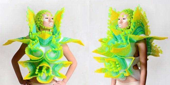 طراحی لباس با پلاستیک