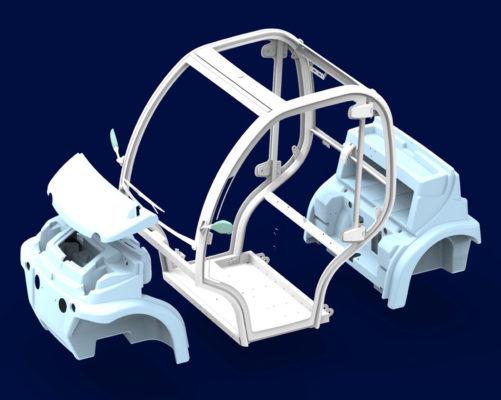 ساخت و طراحی خودرو الکتریکی با پلاستیک بازیافتی!